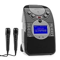 auna ScreenStar • Karaoke Anlage • Kinder Karaoke Player • Karaoke Set • 3,5 Zoll TFT-Display • 2 x dynamisches Mikrofon • Front-Kamera • integrierter Lautsprecher • Video-Ausgang • CD+G-Player • USB-Port • MP3-fähig • Echo-Effekt • A.V.C. Funktion • schwarz