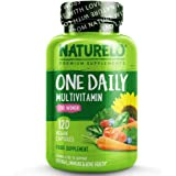 NATURELO One Daily Multivitamin for Women - Best for Hair, Skin Nails - Natural Energy Support - Whole Food Supplement…