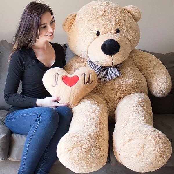 YESBEARS Giant Teddy Bear 5 Feet Tan Color Ultra-Soft (Pillow Included) (Color: Tan, Tamaño: 5 Foot)