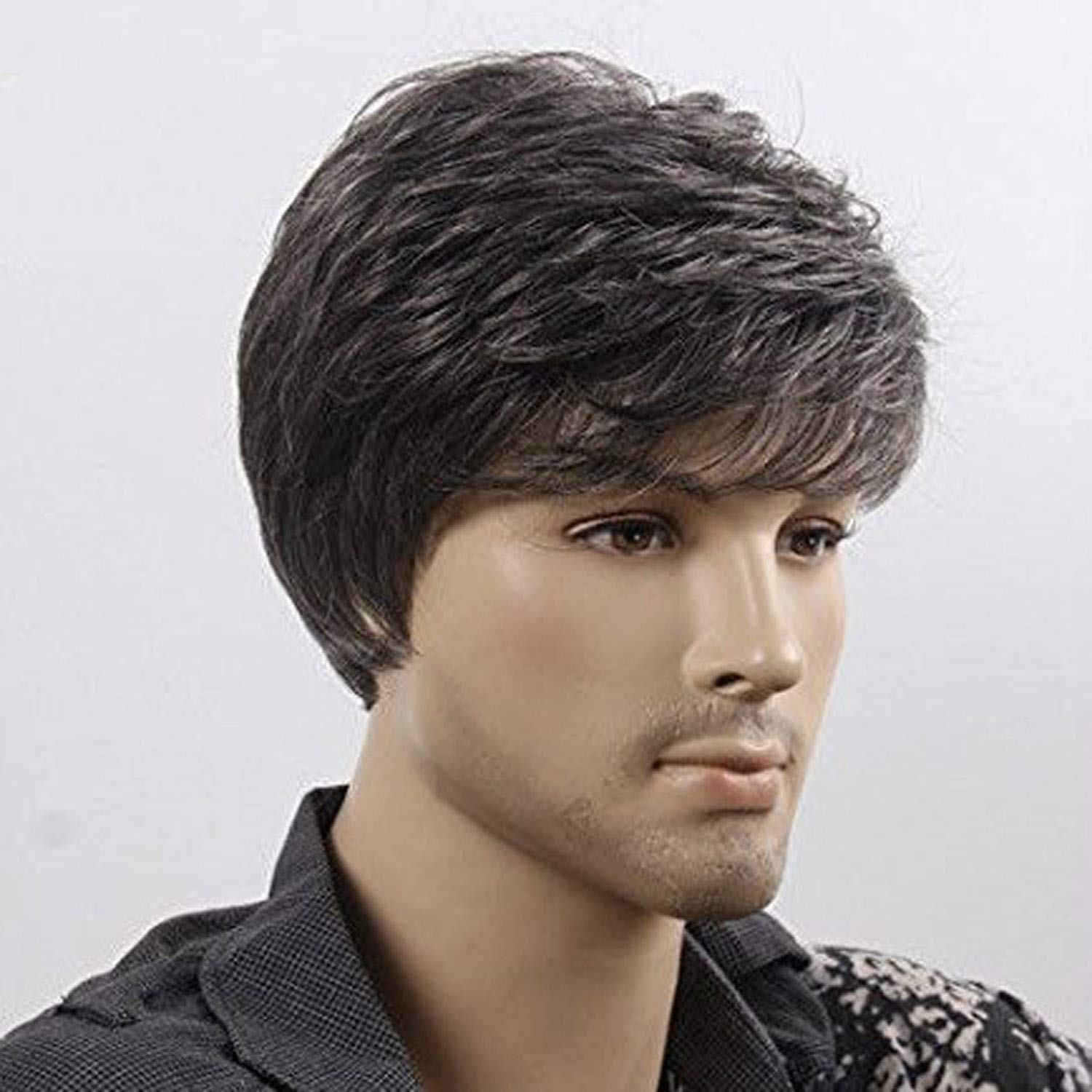 Maahal™ Men Synthetic Hairs Wig Medium size(Natural Black)