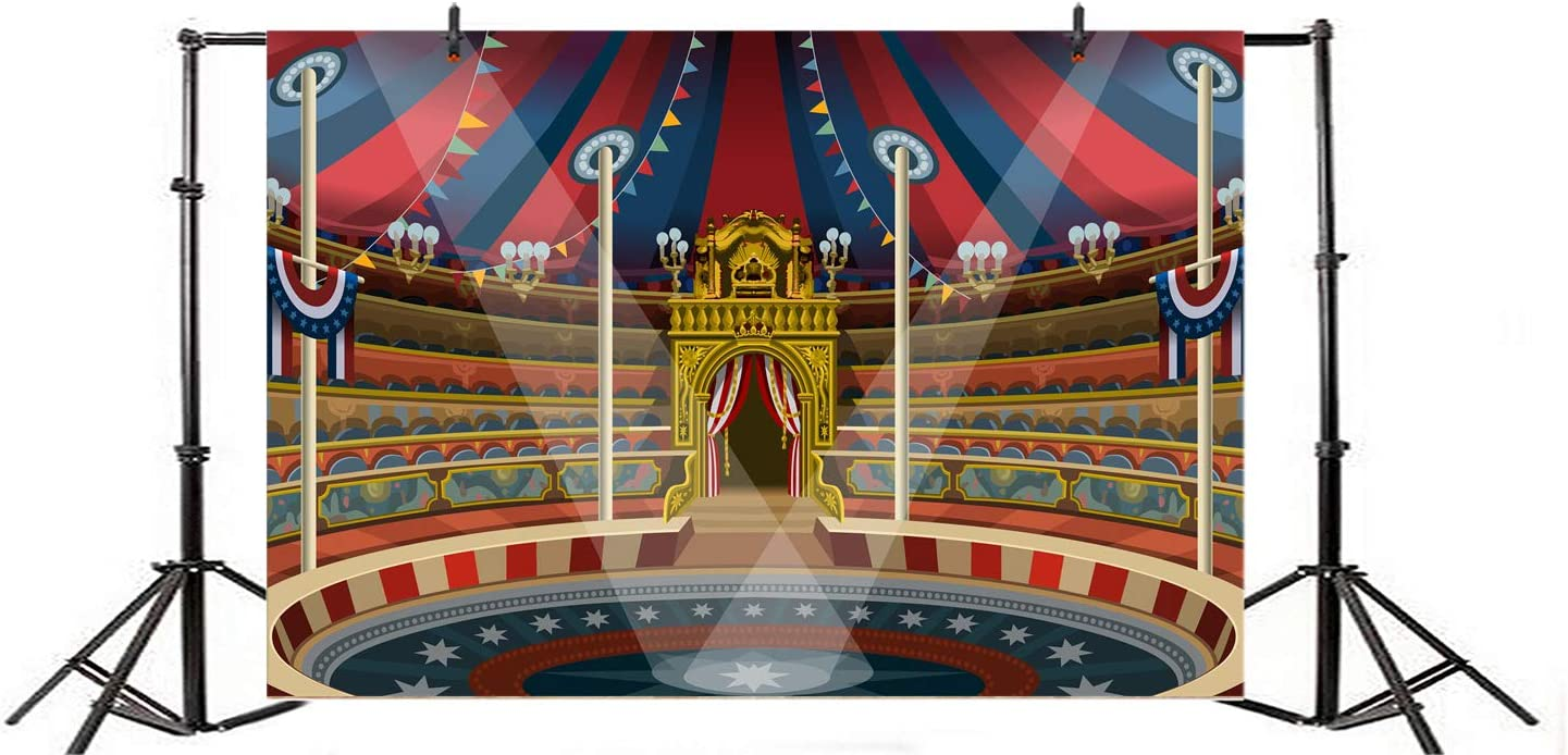 CdHBH 10x12ft Circus Theme Tools Acrobatic Figure Ladder Photo Studio Studio Photography Photography Props Portrait Clothing Photo Photography Background Cloth Wallpaper Home Decoration