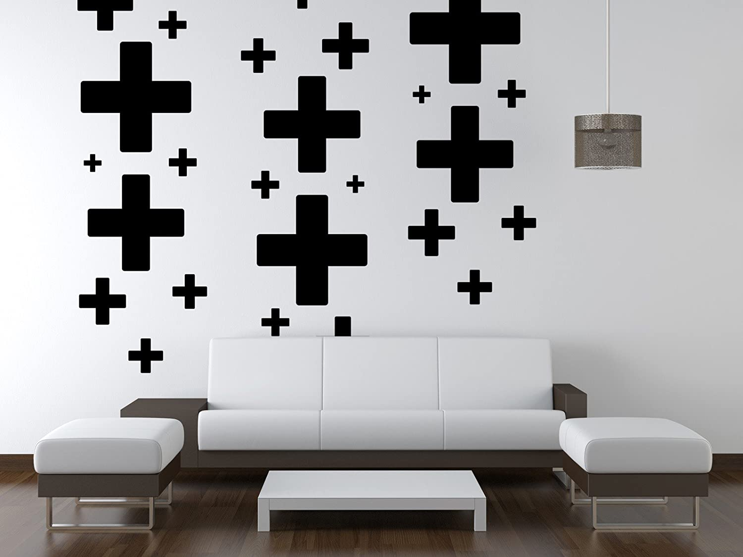 Plus Sign Sticker Wall Pattern Decal Plus Wall Pattern Swiss Cross Decal Wall Decals Wall Stickers Pattern Cross Wall Decal