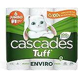 Cascades Tuff Enviro Paper Towels, 2-Ply, 105 Sheets Per Roll - 6 Double Rolls 6 count, 1.03 kilogram