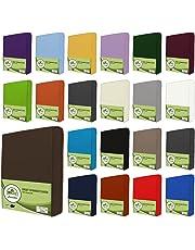 leevitex® Jersey Spannbettlaken, Spannbetttuch 100% Baumwolle in vielen Größen und Farben MARKENQUALITÄT ÖKOTEX Standard 100