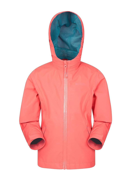 Mountain Warehouse Luna Kids Waterproof Jacket - Lightweight Childrens Jacket, Taped Seams Rain Coat, Zipped Pockets, Adjustable Cuffs Spring Rain Coat - for Travelling