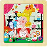 ROBOTIME Wooden Jigsaw Puzzle Princess Dress-Up with Stoarage Tray Grown Up Puzzle for Toddlers