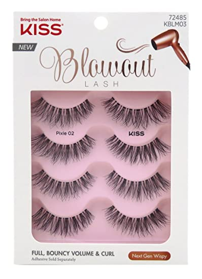 a05acc319e3 Amazon.com: Kiss Blowout Lashes Pixie 02 4-Pairs: Beauty