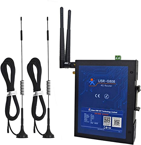 Amazon.com: Industrial WiFi Wireless 4G LTE Router Dual SIM ...