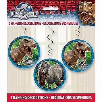 Jurassic World 3 - piezas decorativas guirnaldas Set - 3 piezas colgantes decoraciones