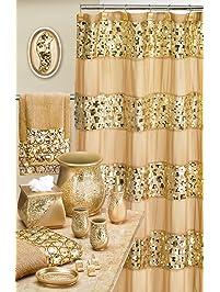 navy and gold shower curtain. Popular Bath 839166 Sinatra Shower Curtain  Champagne Gold Curtains Amazon com