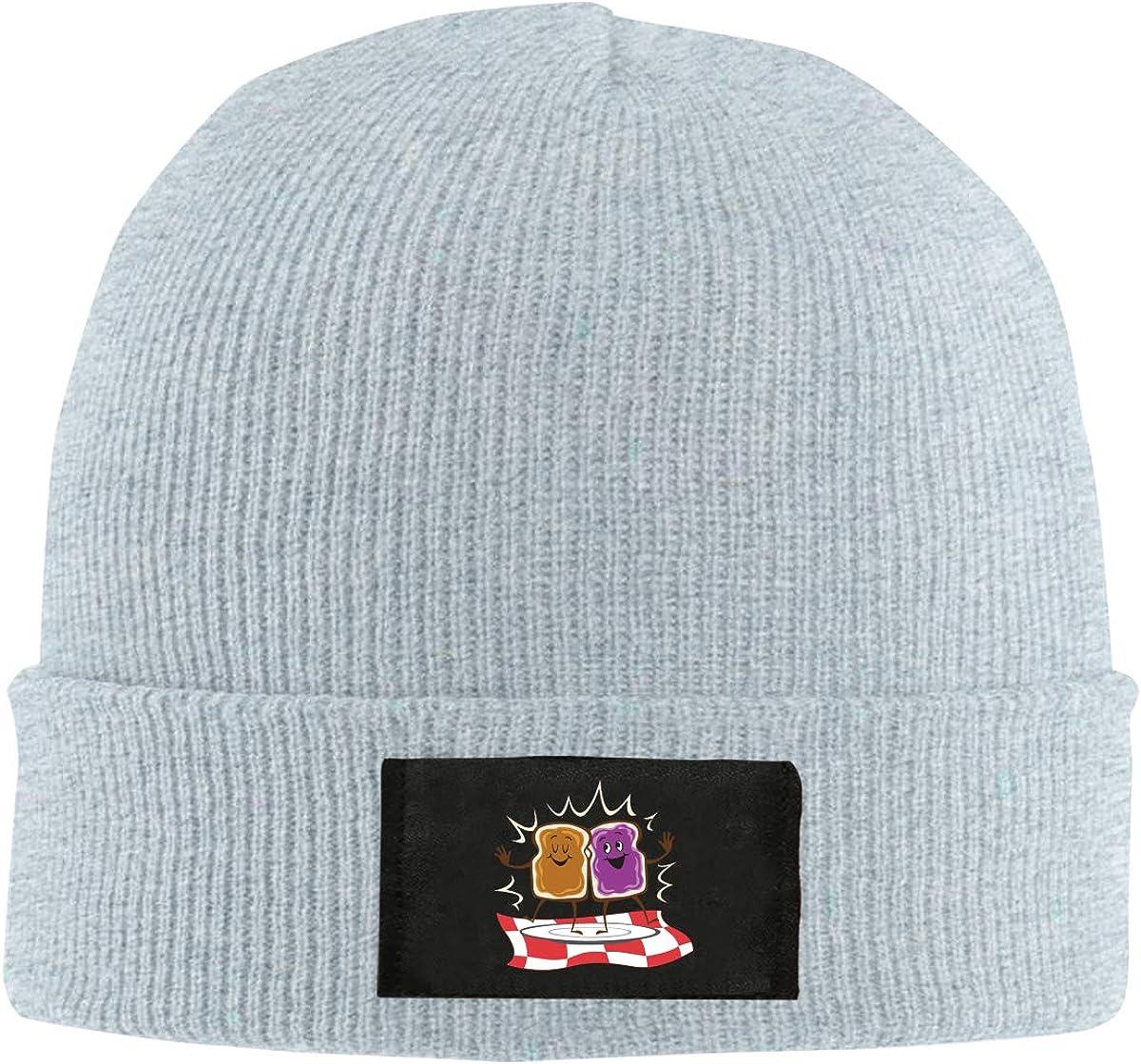Peanut Butter and Jelly Logo Top Level Beanie Men Women Unisex Stylish Slouch Beanie Hats Black