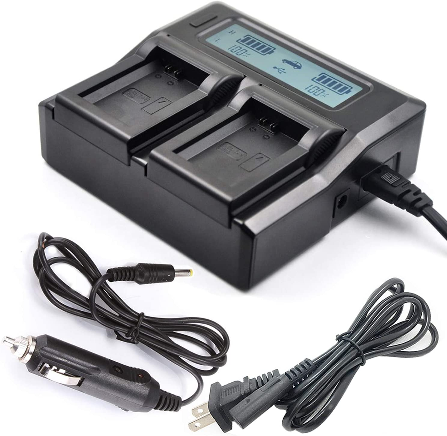 DCR-DVD405 DCR-DVD406 DCR-DVD404 LCD USB Travel Battery Charger for Sony DCR-DVD403 DCR-DVD408 Handycam Camcorder