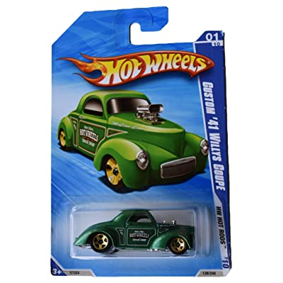 Hot Wheels Custom '41 Willys Coupe 139/240, Green: Toys & Games