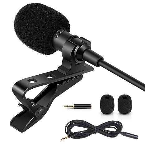 Rovtop Micrófono de solapa profesional Lavalier, micrófono de ...