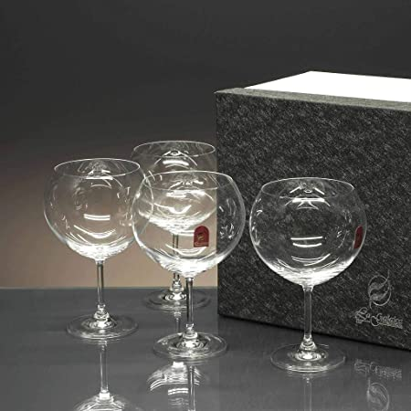 la galaica | - Set de 4 Copas de Cristal para Gin Tonic y Combinados | Copa