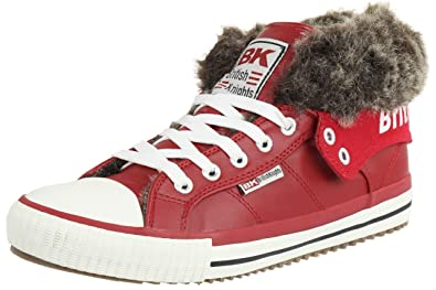 d0948504563741 British Knights ROCO BK gefüttert Winterschuhe Damen Sneaker B32-3750-06 Rot