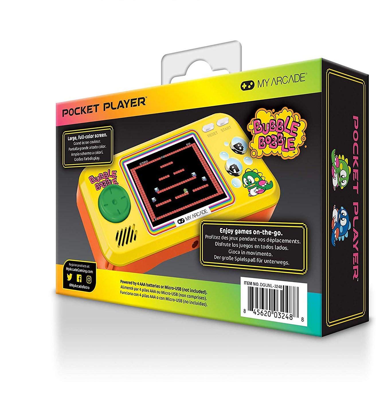 Amazon.com: My Arcade Bubble Bobble Pocket Player Handheld ...