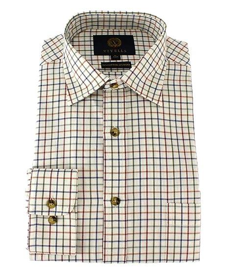 Viyella - Camisa clásica de Cuadros Escoceses medianos: Amazon.es: Ropa y accesorios