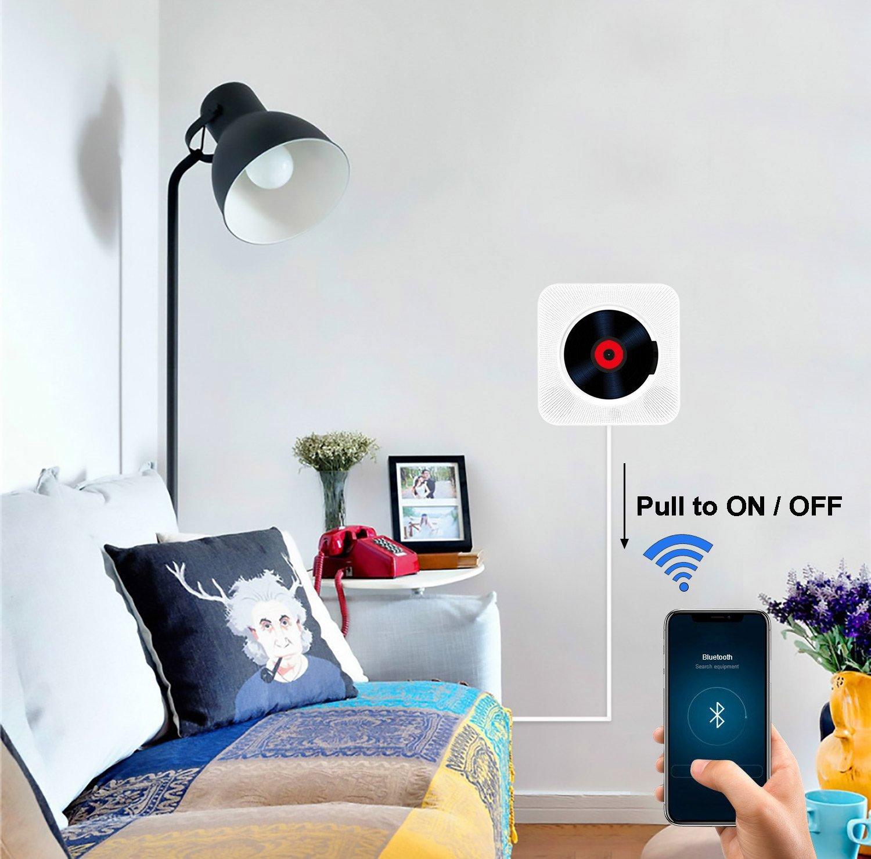 Alice Dreams en la pared montierbare altavoz reproductor de CD de m/úsica de Bluetooth Inal/ámbrico Reproductor de MP3 con mando a distancia y MP3 3.5 mm Auriculares de audio hembra AUX de entrada//salida Portable Reproductor de CD