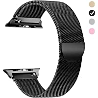 Tirnga Compatible with Apple Watch Band 42mm 38mm 44mm 40mm, iWatch Bands Milanese Loop Replacement for Series 4 3 2 1
