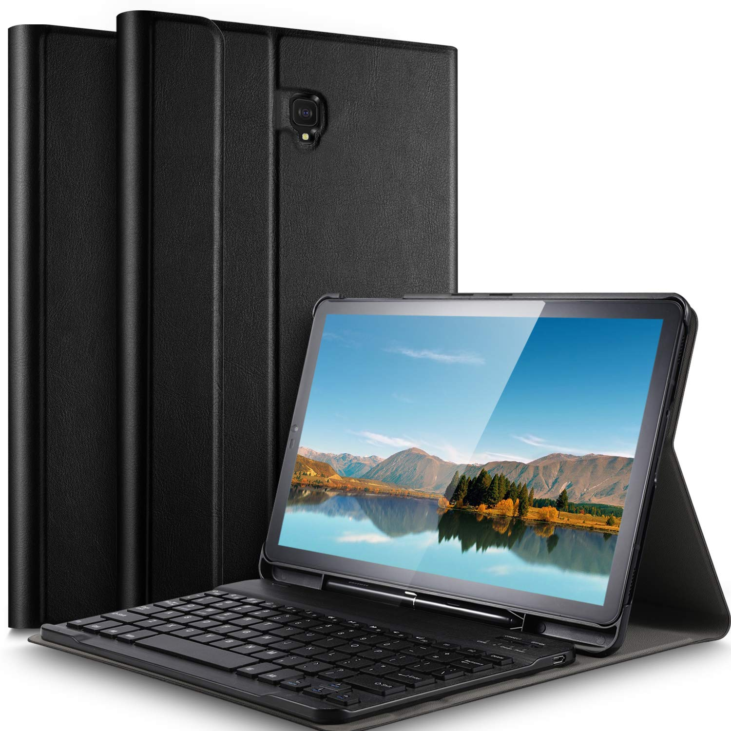 IVSO Samsung Galaxy Tab S4 10.5 Case with Keyboard - Detachable Wireless Keyboard Front Prop Stand Case for Samsung Galaxy Tab S4 SM-T830 Wi-Fi & SM-T835 4G LTE 10.5-inch 2018 Release Tablet (Black)