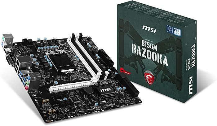 MSI Gaming Intel Skylake B150 LGA 1151 DDR4 USB 3.1 Micro ATX Motherboard (B150M Bazooka)