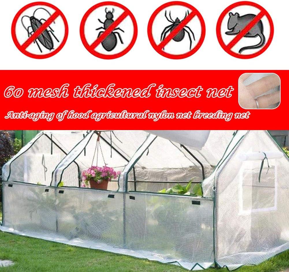 1 x 10 m cultures serre Filet de jardin DULUMN en maille fine pour insectes tunnel de culture pour plantes moustiques anti-oiseaux fruits l/égumes