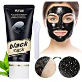 Black Mask, Y.F.M Bamboo Charcoal Mask for Blackhead Removes, Purifying Peel-off Mask, Deep Cleansing Mask, Acne Treatment Mask, Face care