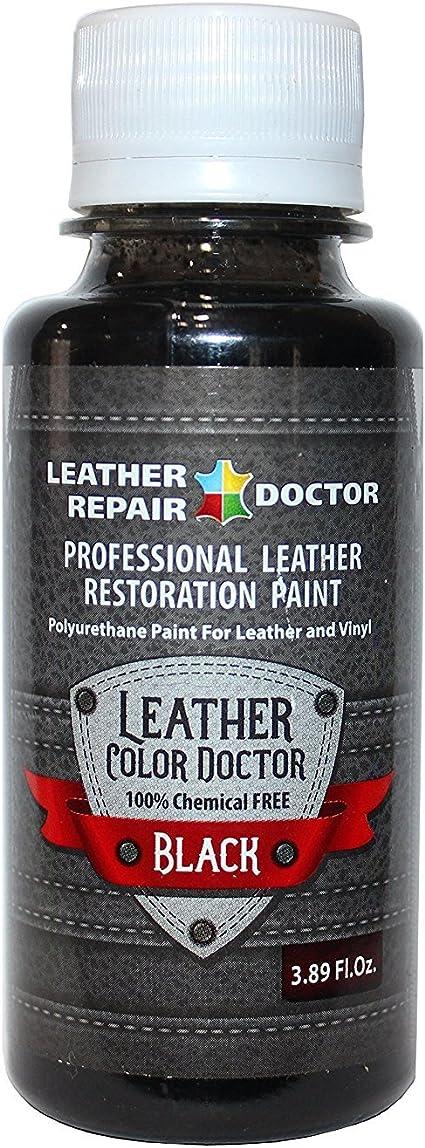 Pintura profesional de cuero negro para retoques, cambios de color y restauración - Zapatos, chaquetas, bolsos, cinturones, sillas, sofás, ...
