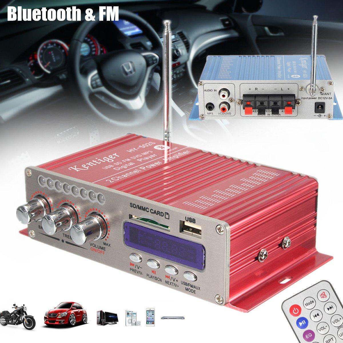 ELEGIANT 12V Mini HiFi Bluetooth Amplifier Auto KFZ MP3: Amazon.de ...