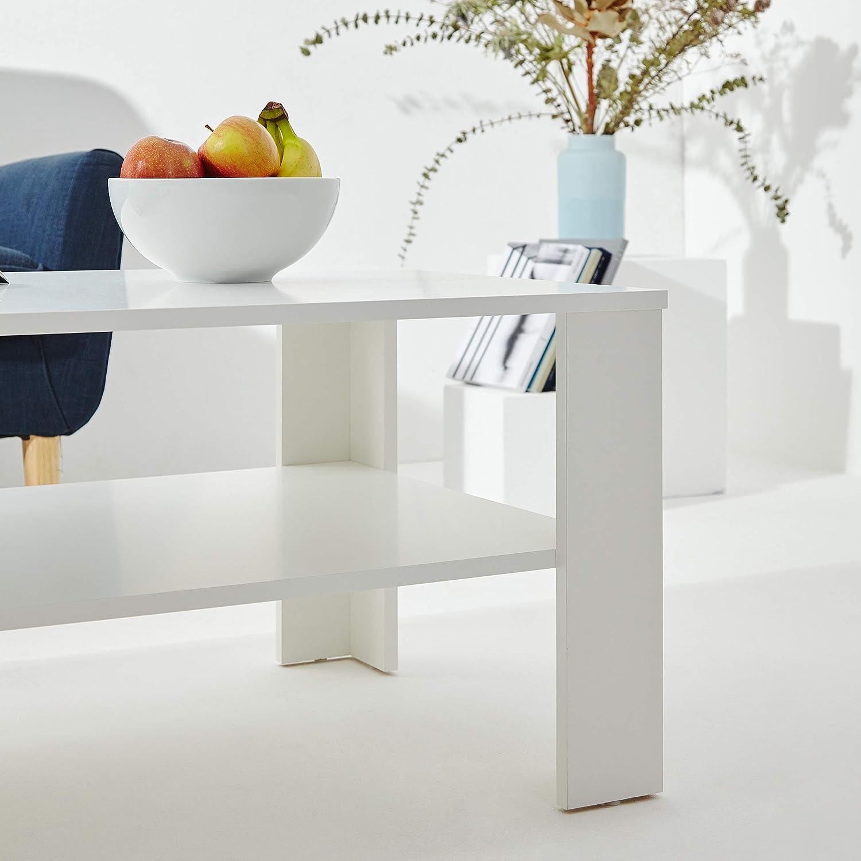 Furniture For Friends M/öbelfreude Couchtisch Wohnzimmertisch Belania Wei/ß 1000 x 600 x 440 mm 18 kg