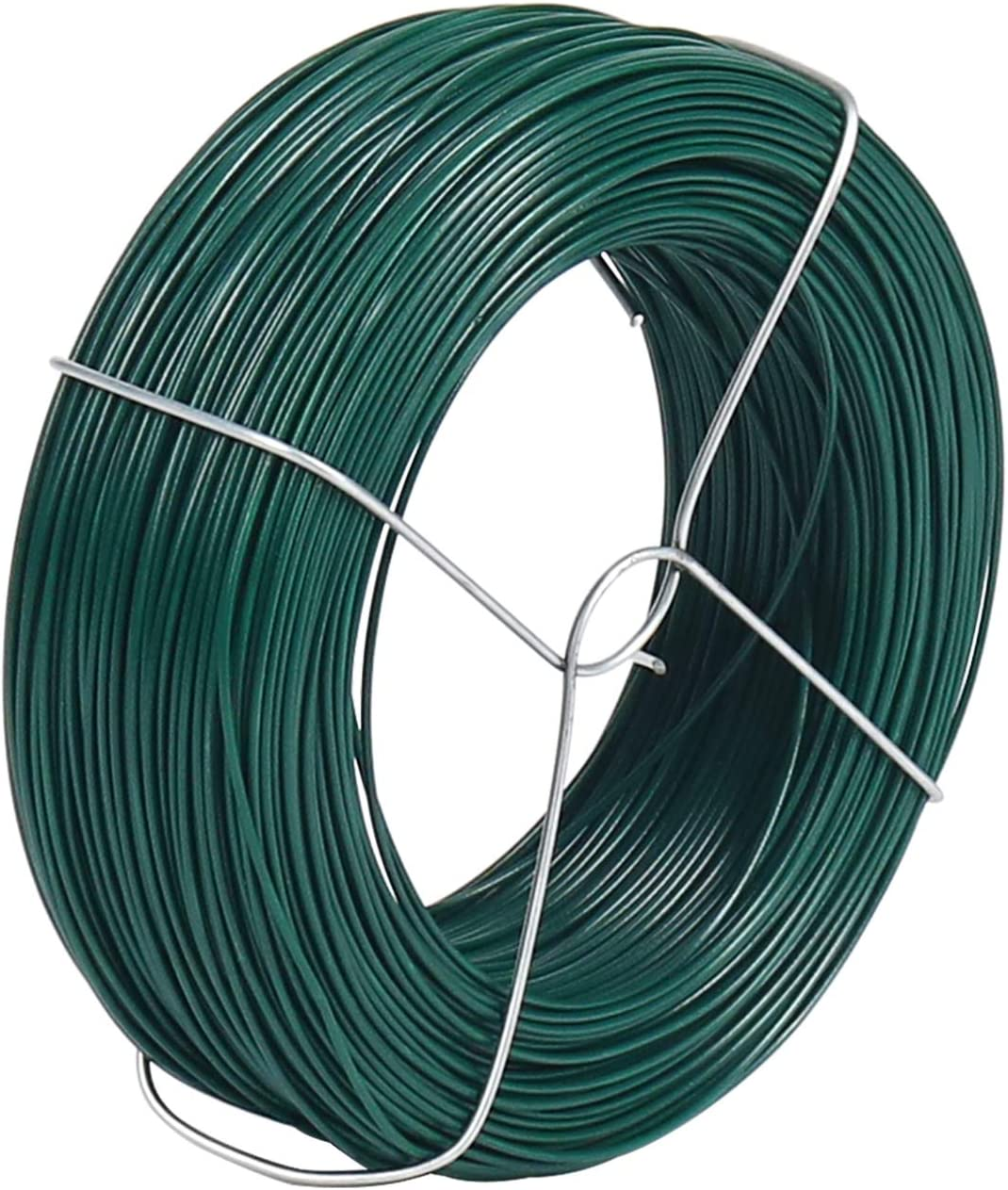 328 Feet Plant Twist Tie Plastic Coated Soft Garden Metal Wire 1mm Thin for Gardening, Home, Office (Green)