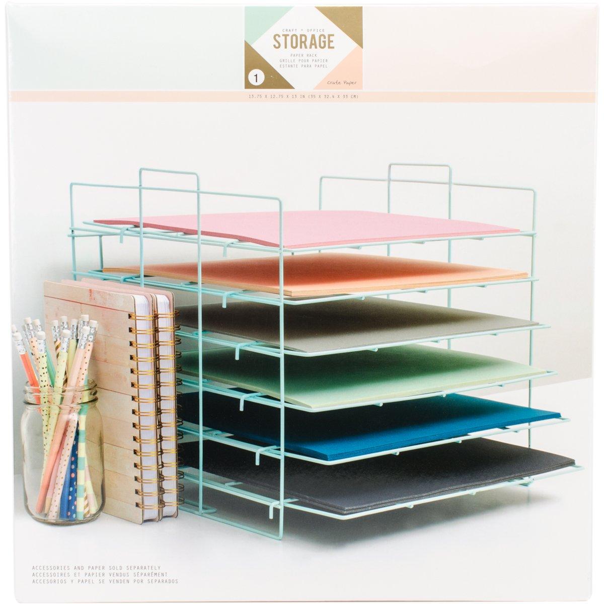 American Crafts 375798 Paper Rack Crate Paper Desktop Storage Paper Rack