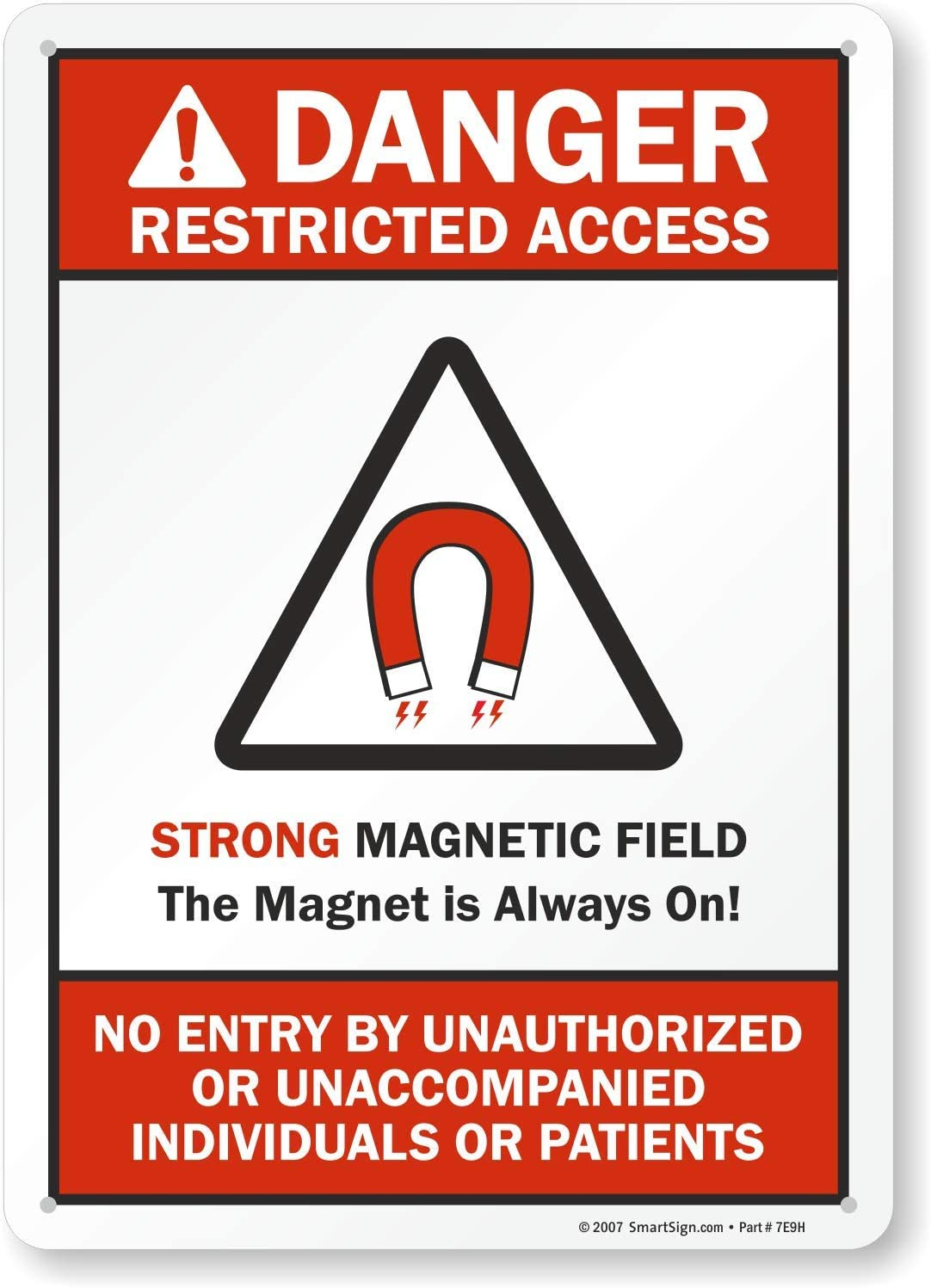 Plastic Sign No Admittance Employees Only with Graphic 10 x 14 SmartSign Restricted Area