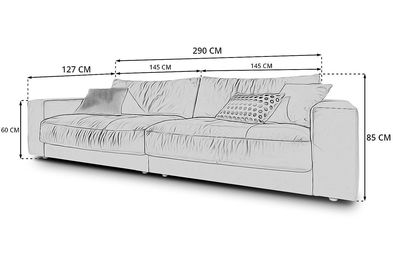 Designer XXL Big-Sofa Kingston Candy-Polstermöbel 3C Lounge-Couches ...