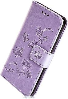 Herbests Housse Etui en Cuir Étui Coque de Protection Porte-Cartes en Cuir Portefeuille Housse Rabattable Fermeture Magnétique Case Compatible pour iPhone XS Max,Vert