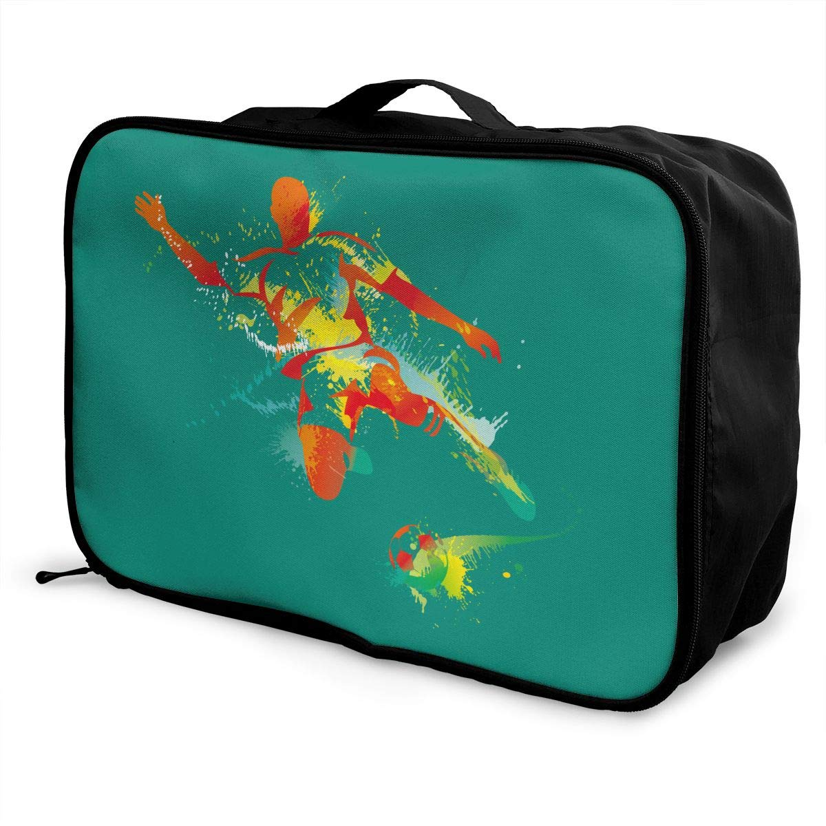 Travel Luggage Duffle Bag Lightweight Portable Handbag Soccer Large Capacity Waterproof Foldable Storage Tote