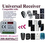 Universelle récepteur Compatibile avec FAAC XT2 433 SLH / XT4 433 SLH / T2 433 SLH / T4 433 SLH / TML4 433 SLH / TML4 433 SLH / XT2 868 SLH / XT4 868 SLH / DL2 868 SLH / DL4 868 SLH / T2 868 SLH / T4 868 SLH / TML4 868 SLH / TML4 868 SLH 433,92Mhz-868,3Mhz Télécommande. 2 canaux rolling code 300-868MHz. Rolling / Fixed code 12 - 24 VAC/DC receiver.