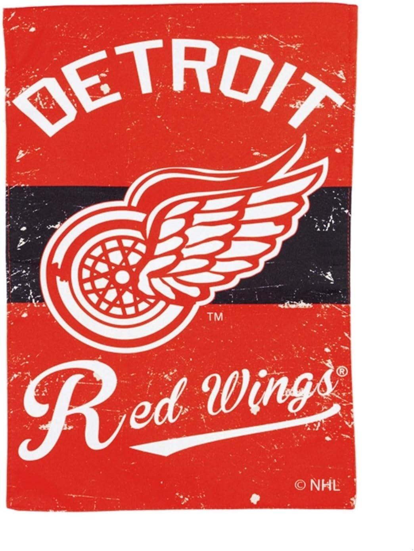 Detroit Red Wings EG Vintage Garden Flag Premium 2-Sided Retro House Banner Hockey