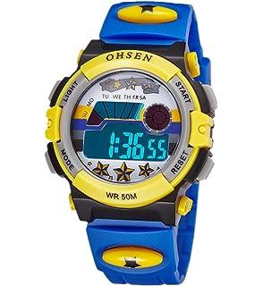 Infantil Niños Niñas Reloj Deportivo Digital Resistente al Agua Multifunción Led Al aire libre Reloj De