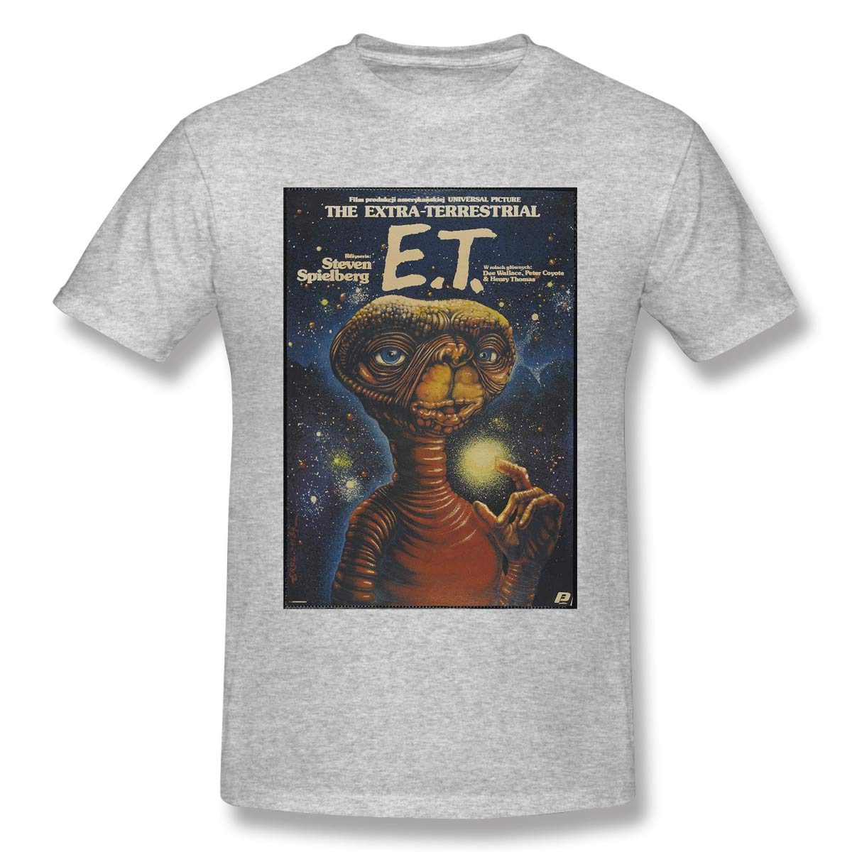 Et The Extra Terrestrial Gray Soft Short Sleeve Graphic Shirts