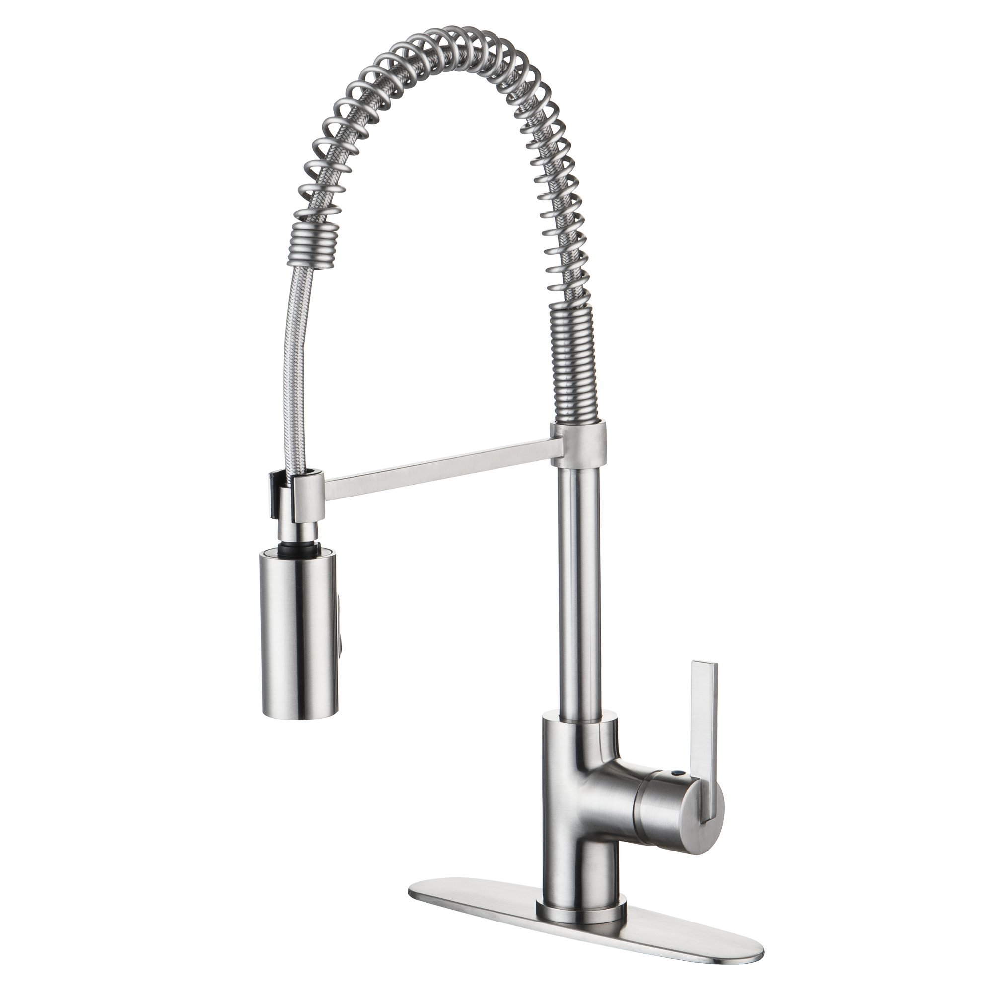 handle fairbury american stainless sprayer steel standard faucet with pull p single spray kitchen in down faucets