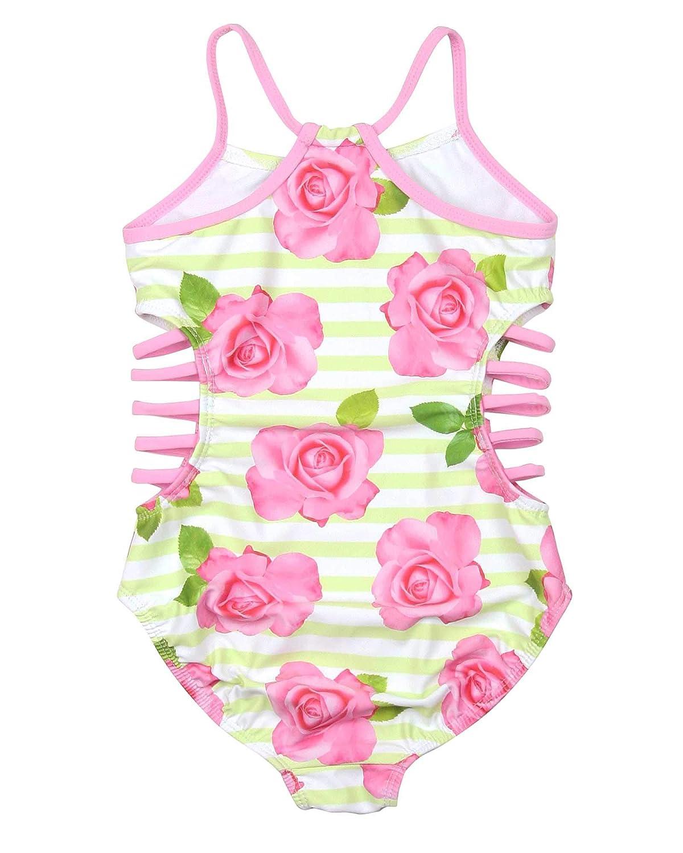 Sizes 4-12 Kate Mack Girls Garden Rose One-Piece Swimsuit