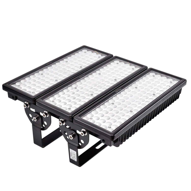 Terrasse Cour ect. Viugreum 100W Projecteurs Ext/érieur, 10000 LM Haute Luminosit/é(2*50W) Blanc Froid IP67 Imperm/éable,LED Modulaire Projecteur pour Jardin Square Polyvalents Ultramodernes