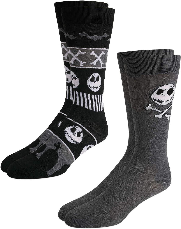 Nightmare Before Christmas Jack Skellington 2-Pack Character Crew Socks (Unisex)