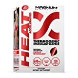 Magnum Nutraceuticals Heat Accelerated - 120 Capsules - Thermogenic Stimulant - Improves Energy & Focus - Accelerated Metabolism