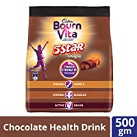 Cadbury Bournvita 5 Star Magic Chocolate Health Drink, 500g Pouch