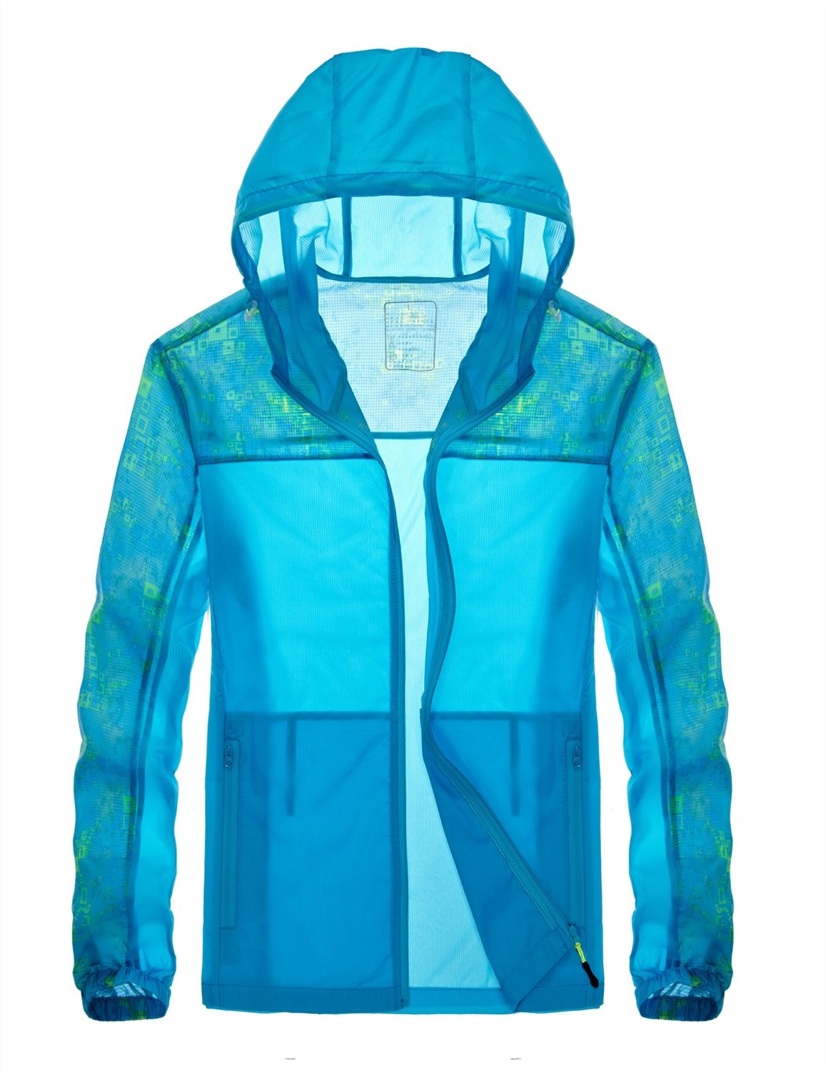 FeN Men's Coats - Summer Quick-drying Sun Protection Clothing Breathable Sports Fashion Jackets Casual Comfortable Long-Sleeved Outerwear (Color : 2, Size : XL)