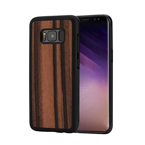 cheap for discount 856ff d7988 Samsung Galaxy S8 Plus case, Galaxy S8 plus Wood Case, Unique Natural  Wooden Protective S8+ Cover,Shell Cases with Real Wood and TPU Material for  ...
