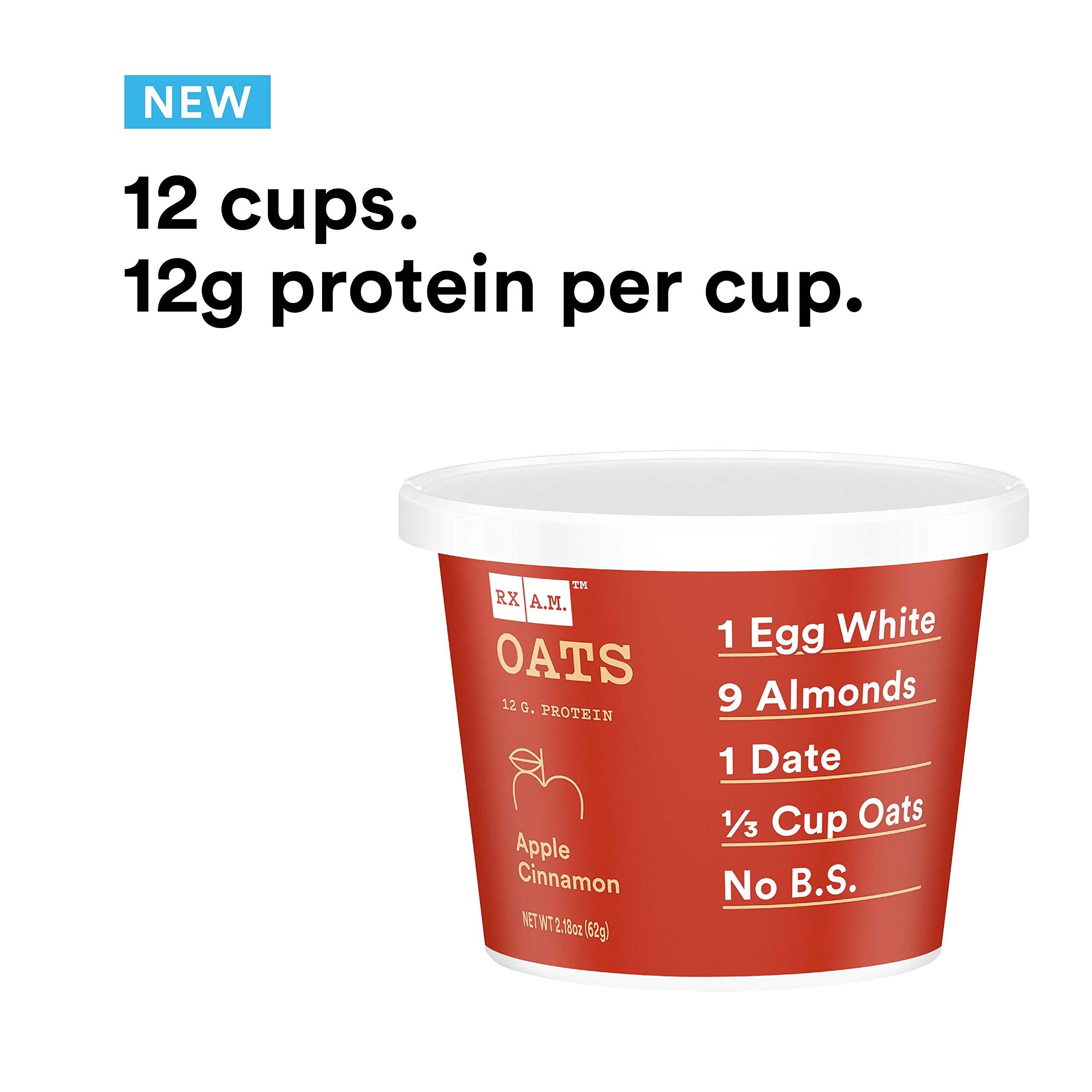 RXBAR, Rx A.M. Oats, Apple Cinnamon, 12ct, 2.24oz Cups, 12 Gluten Free Oatmeal Cups by RXBAR